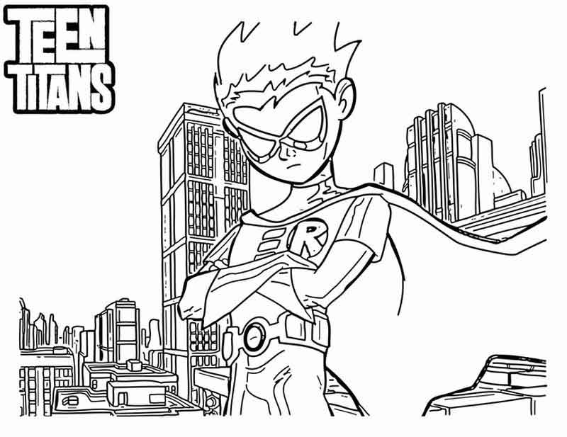 Teen Titans Coloring Pages Nightwing