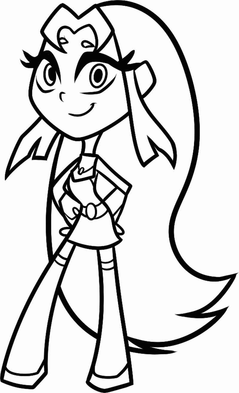 Teen Titans Go Coloring Pages Starfire