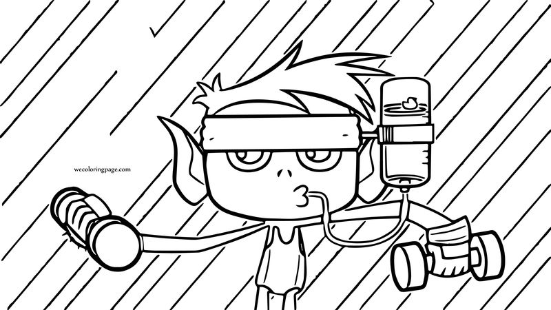 Teen Titans Go Robin Sports Coloring Page