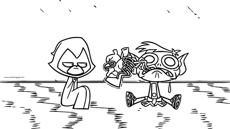 Teen Titans Go The Croissant Coloring Page