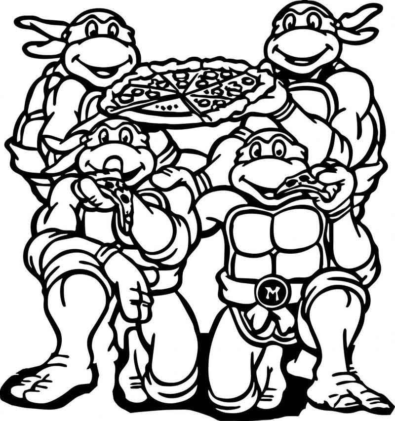 Teenage Mutant Ninja Turtles Coloring Pages (1)