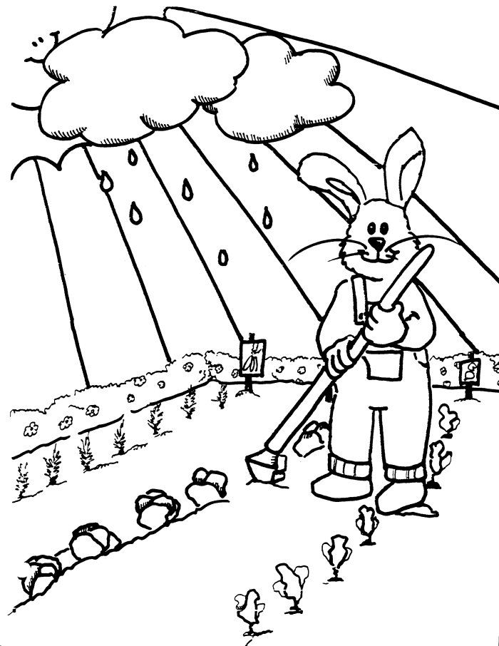 Tend The Garden Coloring Pages 001