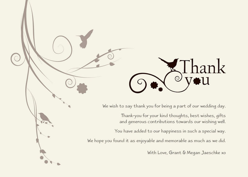 Thank You Notes Samples For Gift Wedding 001