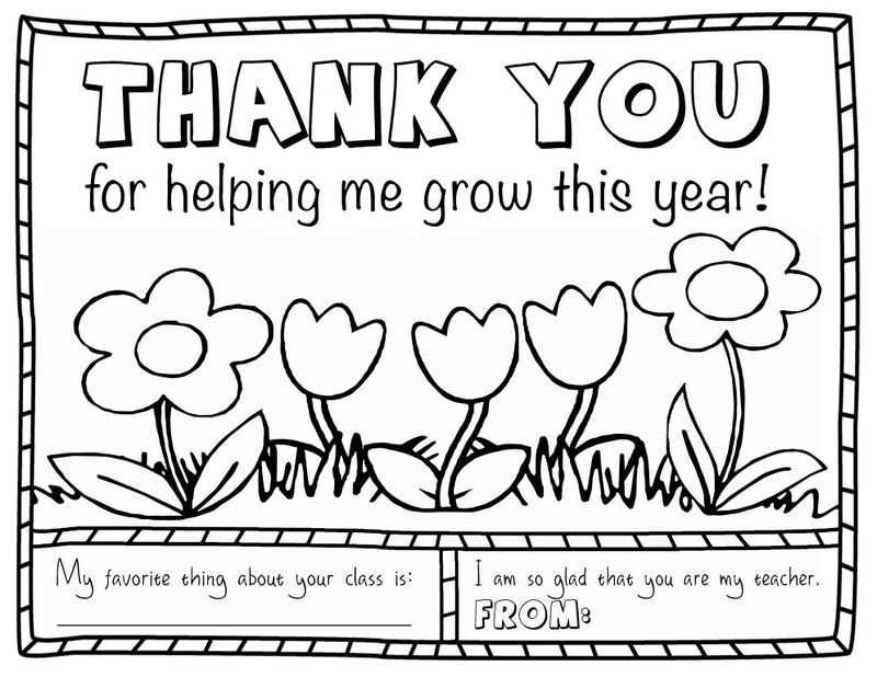 Thank You Teacher Coloring Pages
