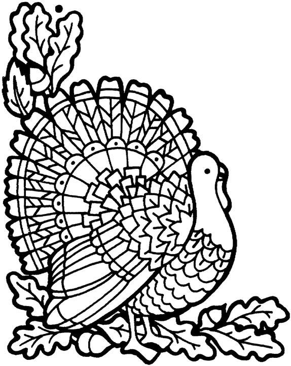 Thanksgiving Turkey November Coloring Pages