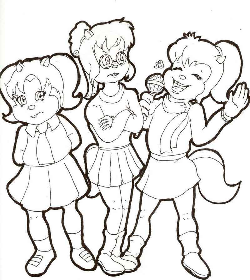 The Chipettes Coloring Pages