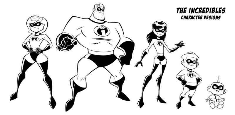 The Incredibles Coloring Page