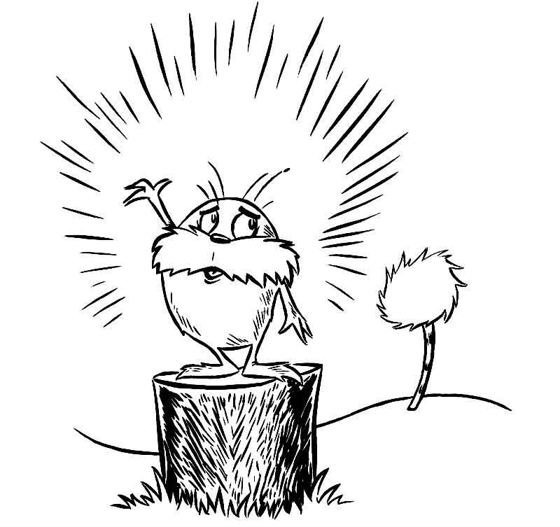 The Lorax Coloring Pages Free