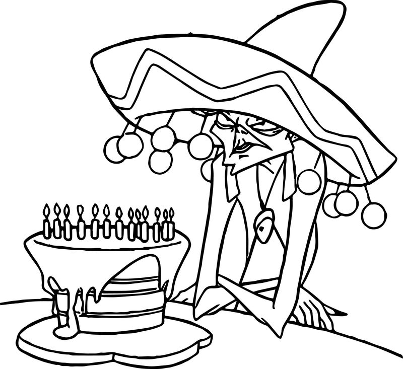 The Emperor New Groove Witch Birthday Disney Coloring Pages