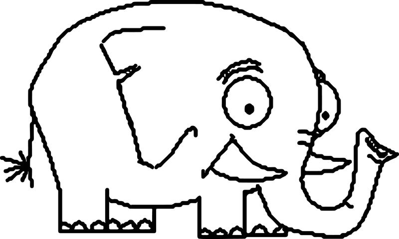 The Frightened Elephant Coloring Page