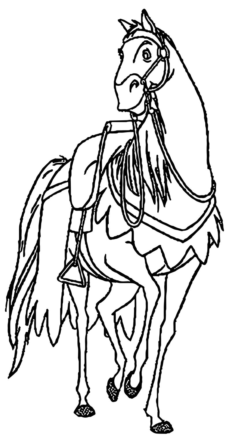 The Hunchback Of Notre Dame Hb Horse Coloring Page