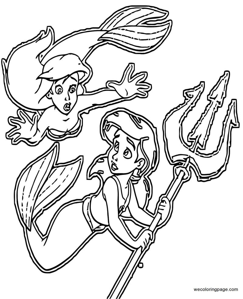 The Little Mermaid Ariels Beginning Coloring Pages 29