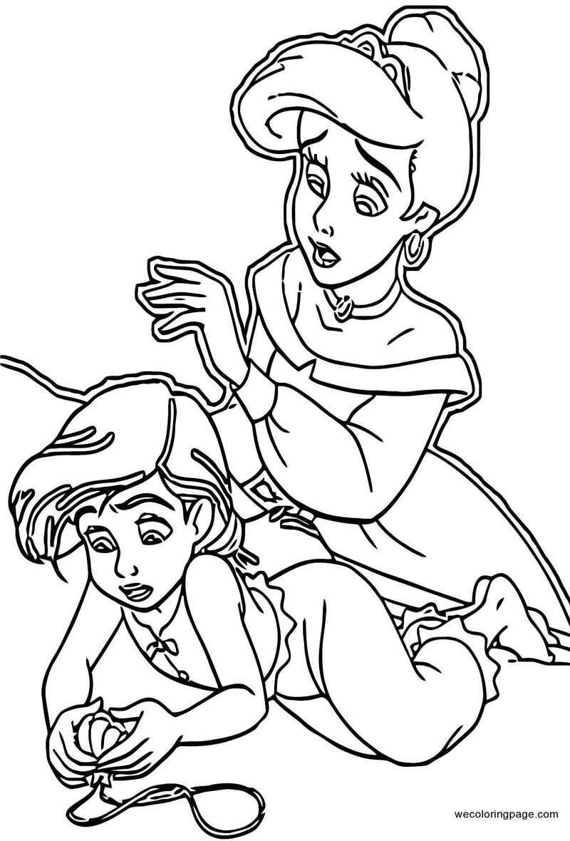 The Little Mermaid Ariels Beginning Coloring Pages 40