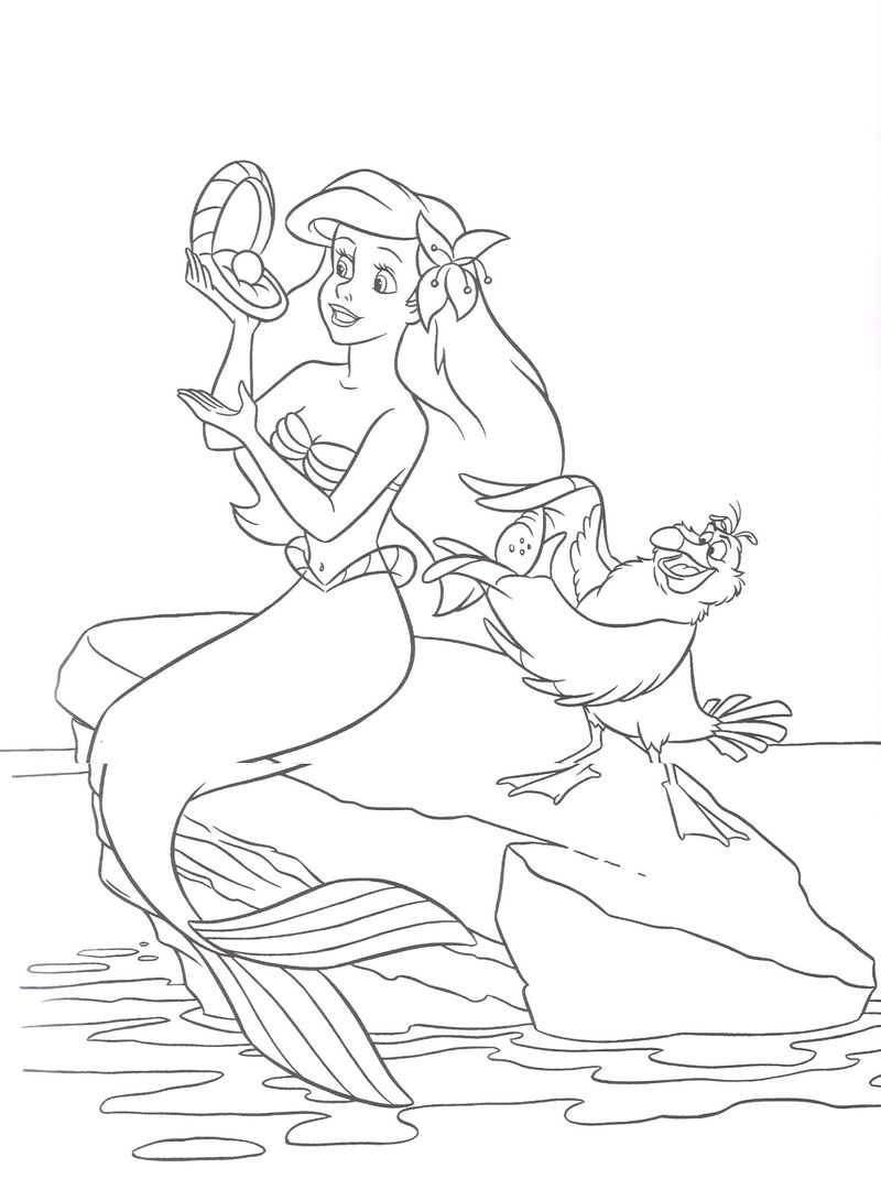 The Little Mermaid Coloring Pages Printable