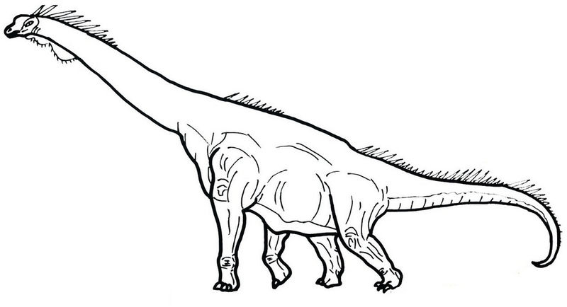 The Most Awe Inspiring Dinosaurs Brachiosaurus Coloring Picture