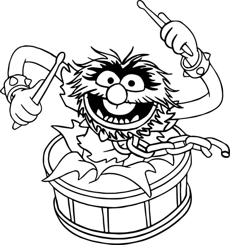 The Muppets Animal Song Coloring Pages