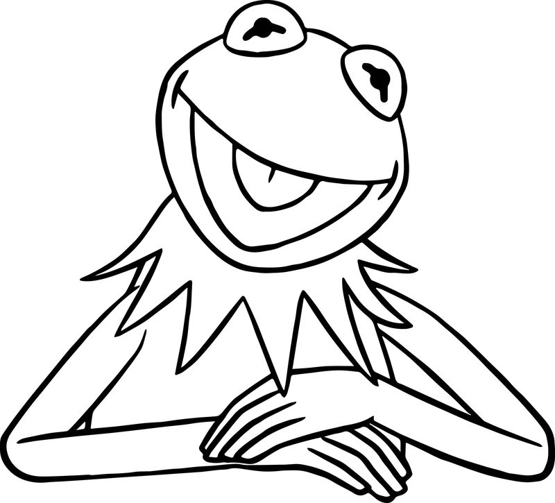 The Muppets Kermit The Frog Coloring Pages