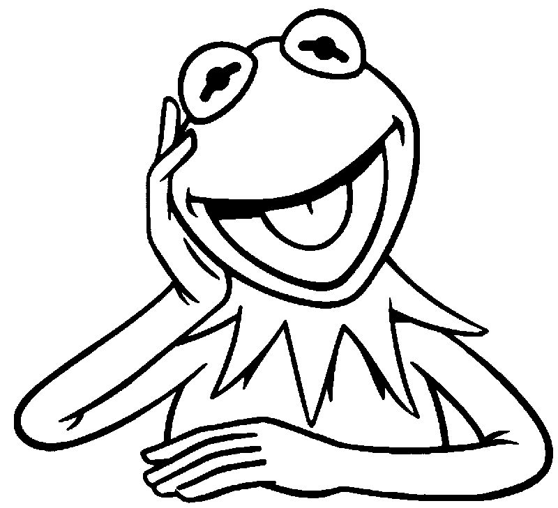 The Muppets Kermit The Frog Listen Coloring Pages