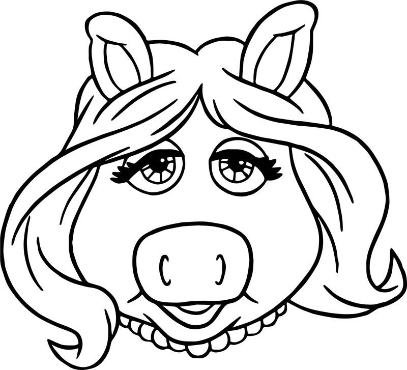 The Muppets Miss Piggy Coloring Pages