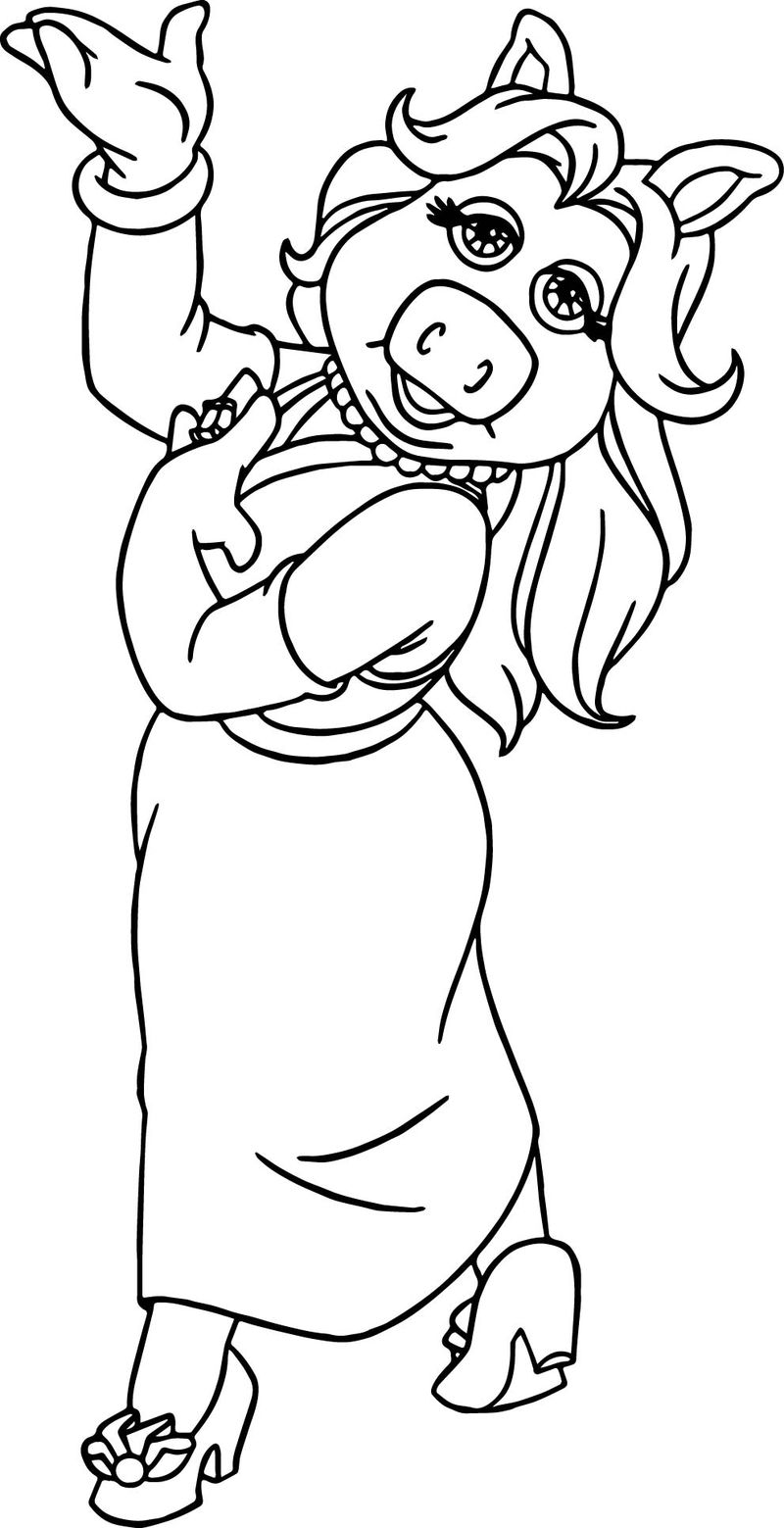 The Muppets Miss Piggy Just Coloring Pages