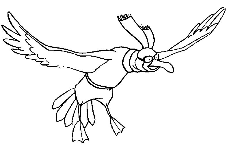 The Rescuers Orville Bird Coloring Pages
