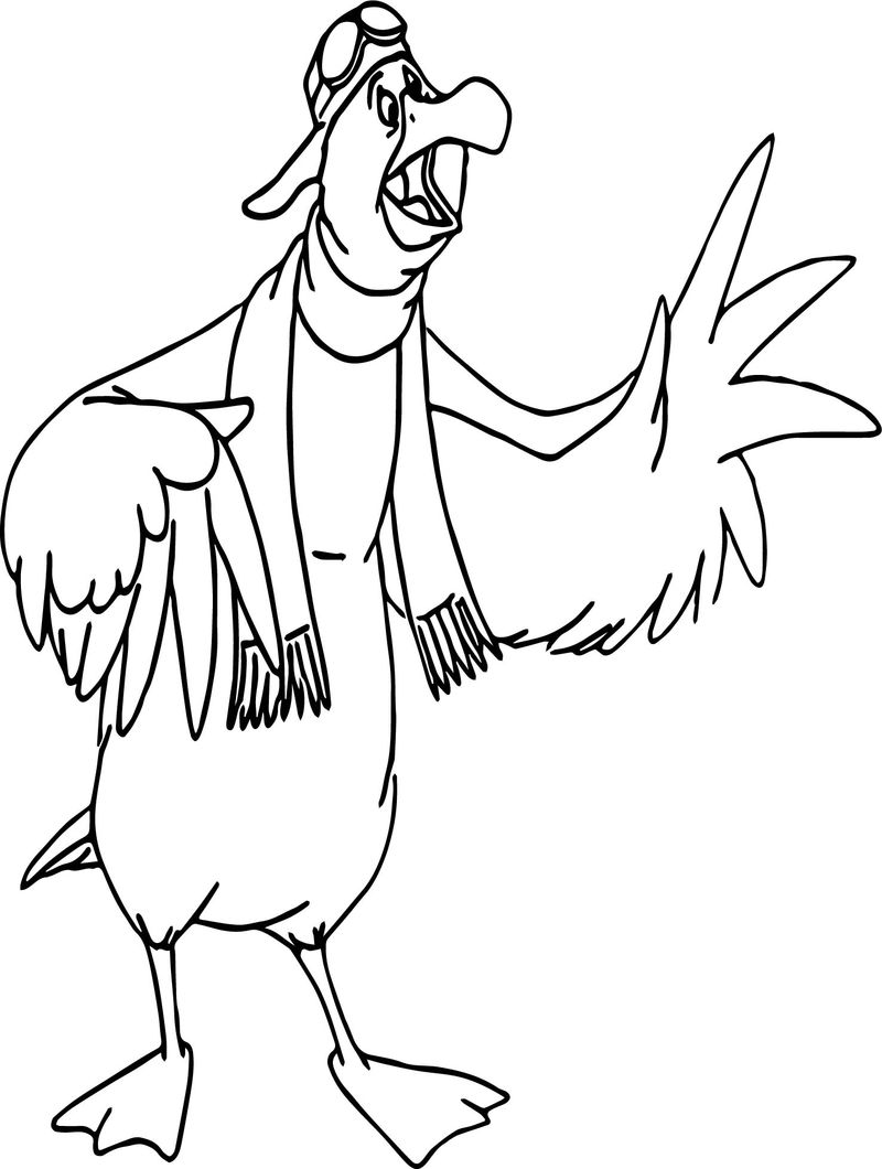 The Rescuers Wilbur Bird Coloring Pages