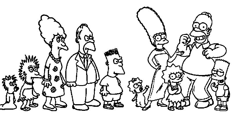 The Simpsons Tracey Ullman Coloring Page