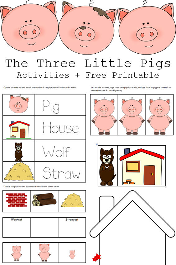 The Three Little Pigs Worksheets Printable