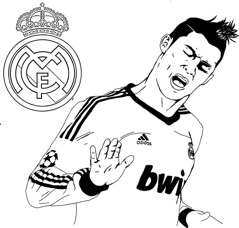 The Most Popular Soccer Player Cristiano Ronaldo Cr 7 Coloring Page