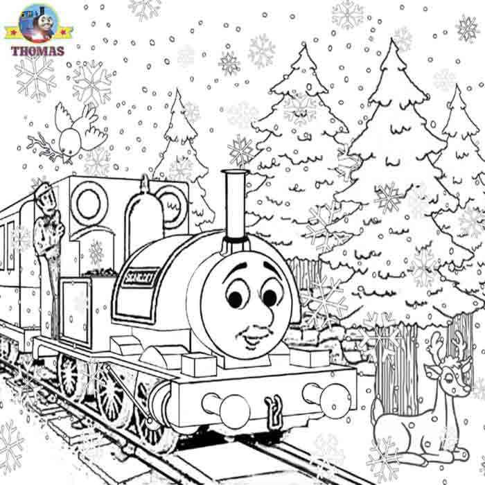 Thomas The Train Coloring Pages Gordon Fall Winter And Easter