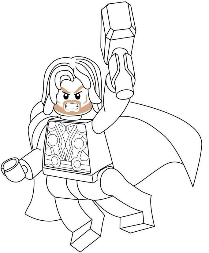 Thor Lego Avengers Coloring Pages