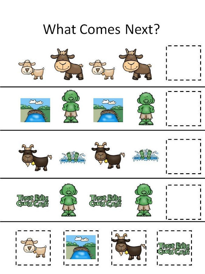 Three Billy Goats Gruff Activities Printable