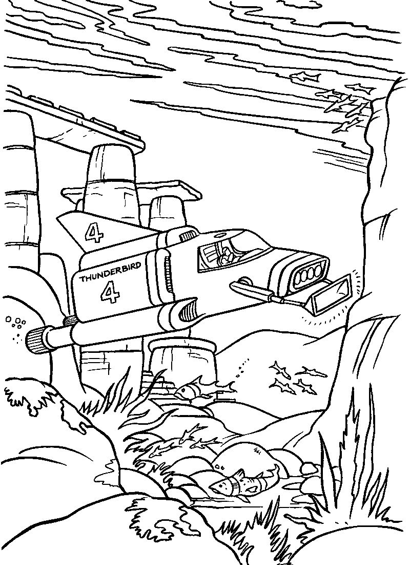 Thunderbirds United States Air Force Coloring Page