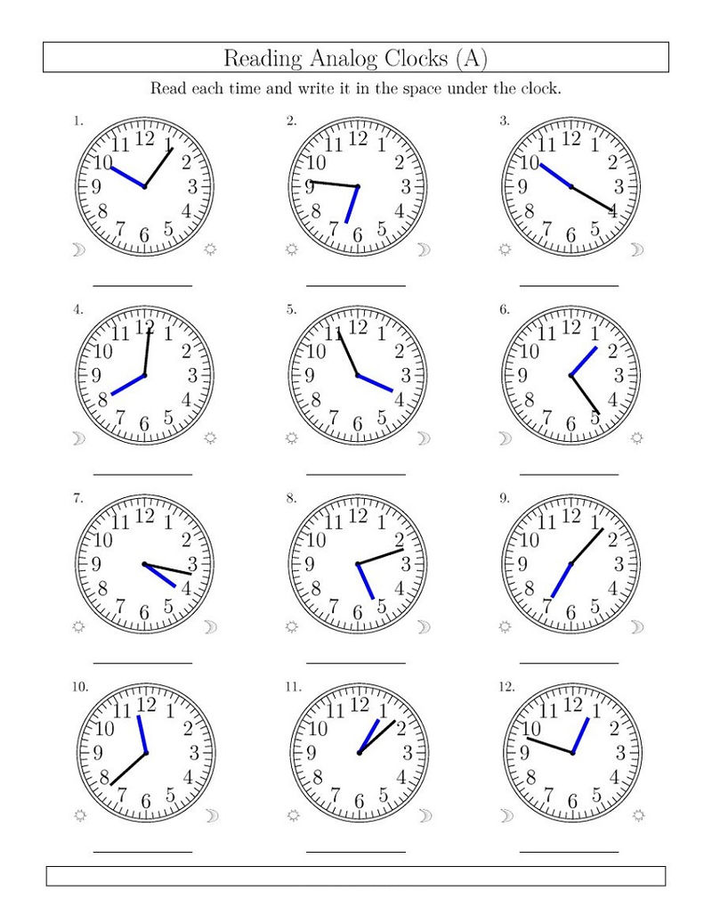 Time Elapsed Worksheets Minutes
