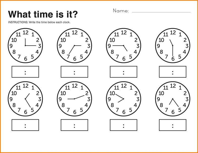 Time Elapsed Worksheets Practice
