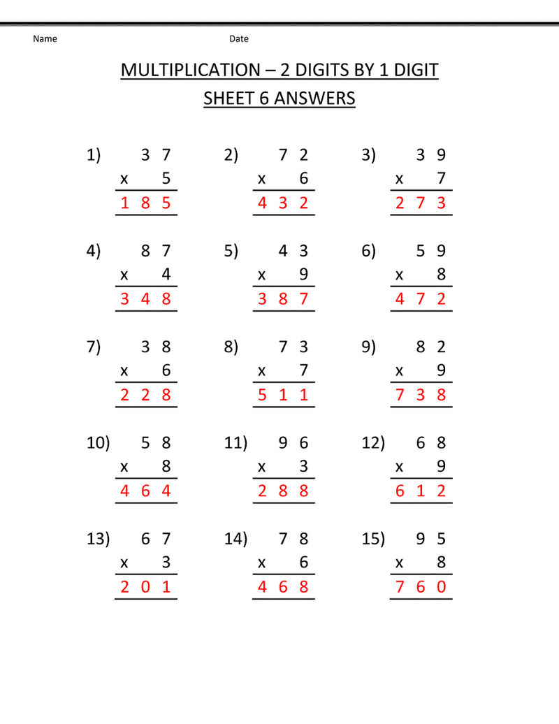 Timetable Worksheets 3rd Grade