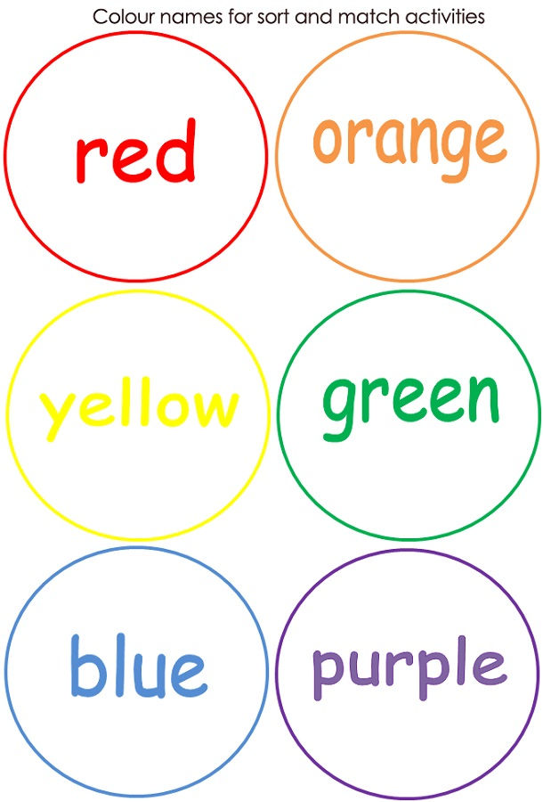 Toddler Learning Activities Printable Free Color