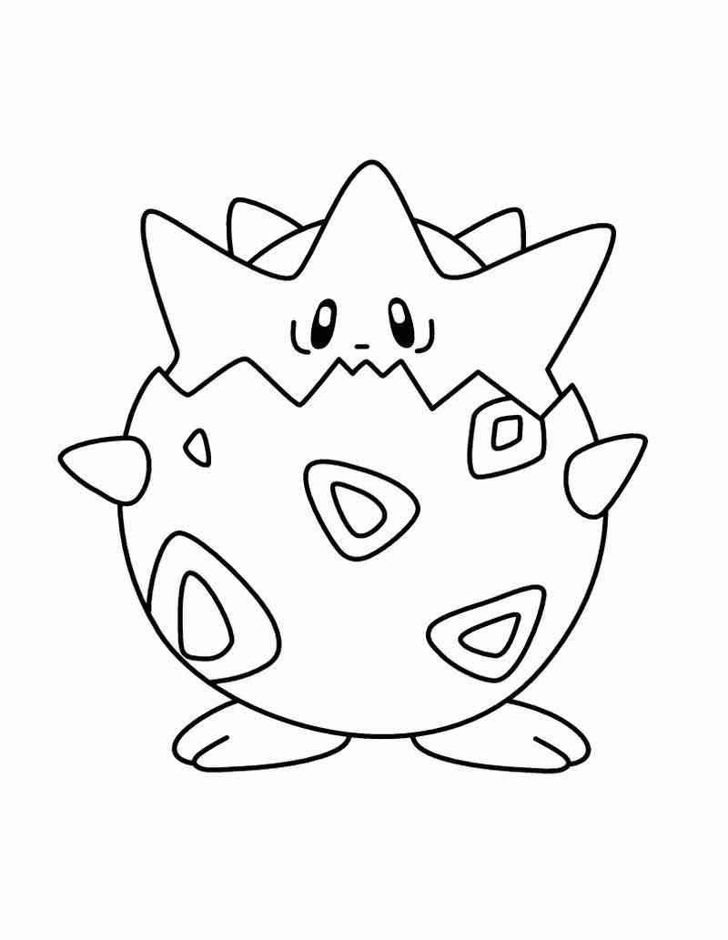 Togapee Pokemon Coloring Pages
