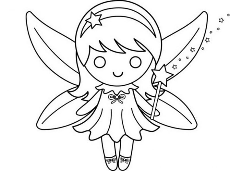 Tooth Fairy Wand Coloring Page