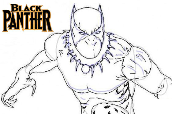 Top Marvel Studio Black Panther Coloring Pages