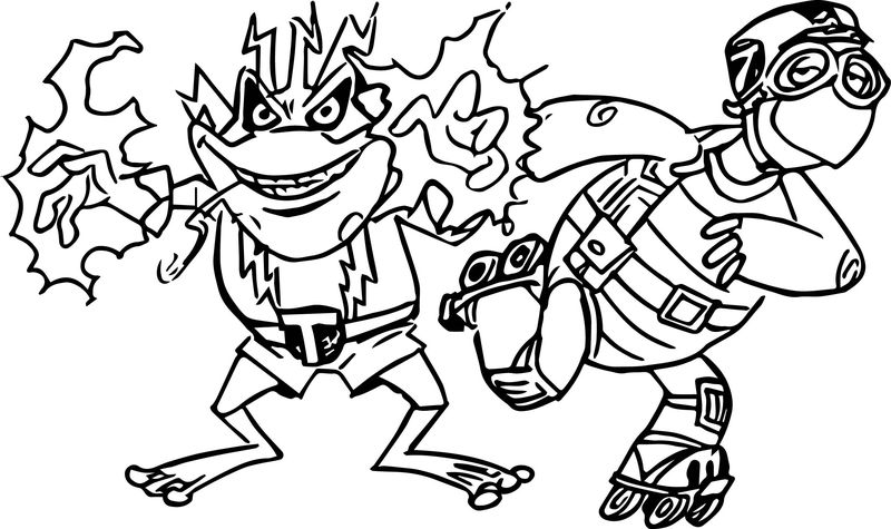 Tortoise Turtle Electro Shock Coloring Page