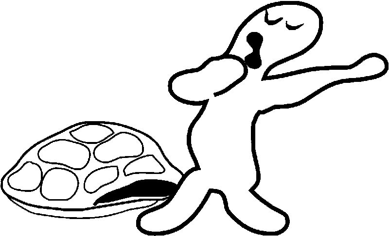 Tortoise Turtle Wake Up Coloring Page