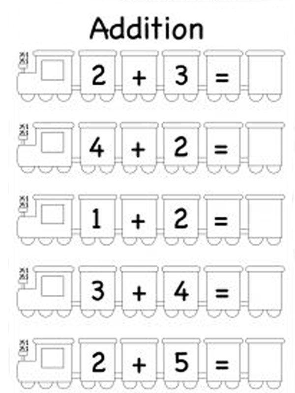 Touch Point Math Addition Worksheets 001