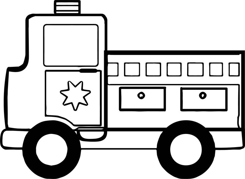 Toy Car Fire Department Truck Coloring Page