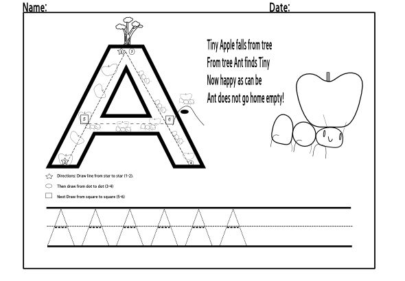 Trace Letter A 3 001