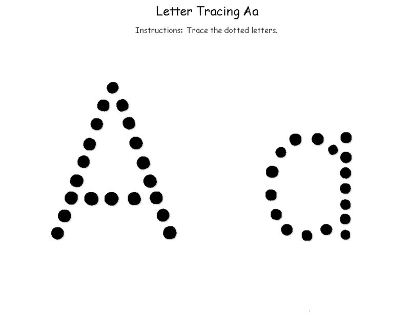 Trace Letter A Printable