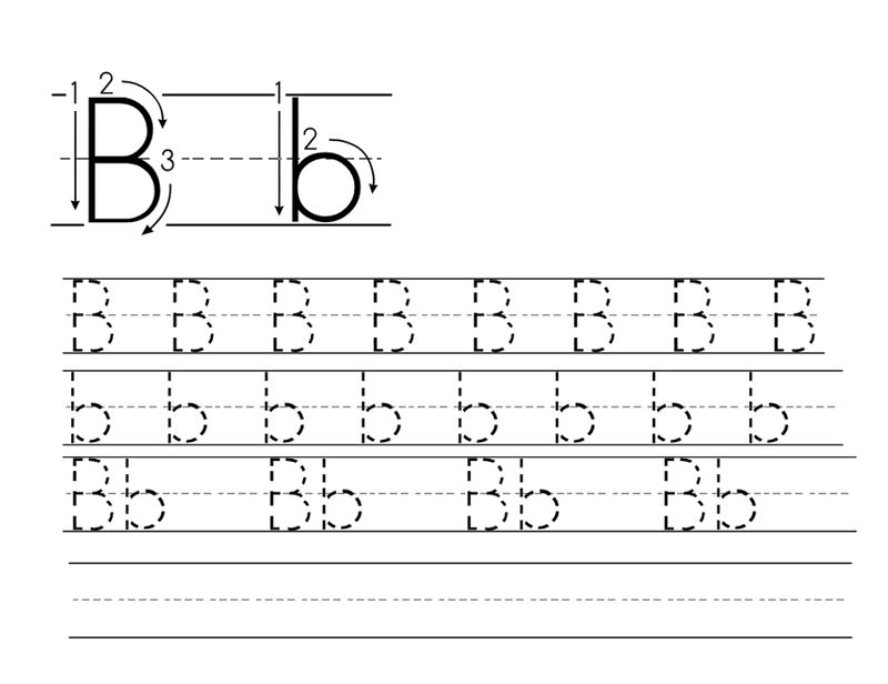 Trace Letter B Activity 001