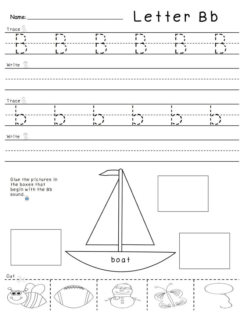 Trace Letter B Practice 001