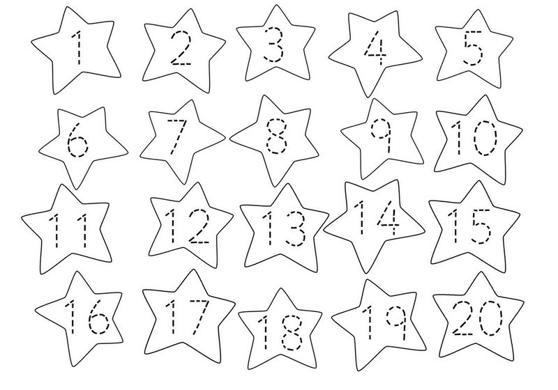 Trace Number 1 20 Worksheet Fun
