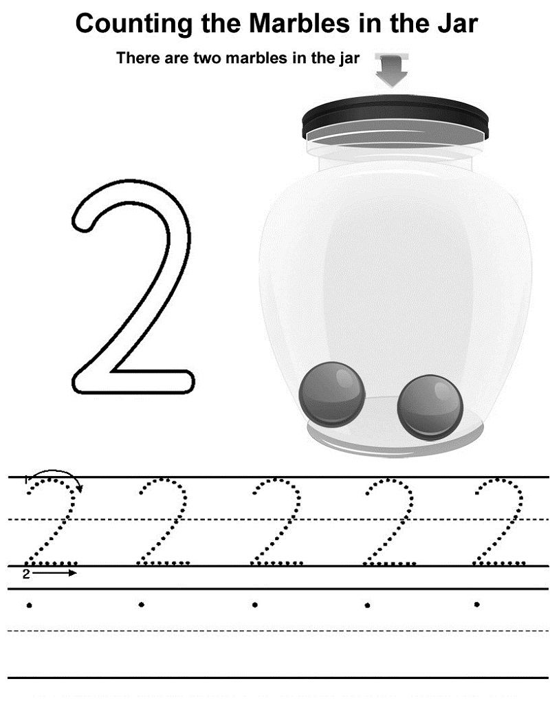 Trace Number 2 Printable 001